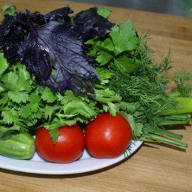 Букет из свежих овощей