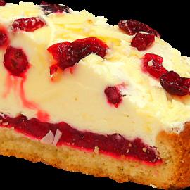 Брусничный кремовый пирок